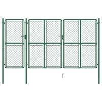 vidaXL Poort 150x395 cm staal groen