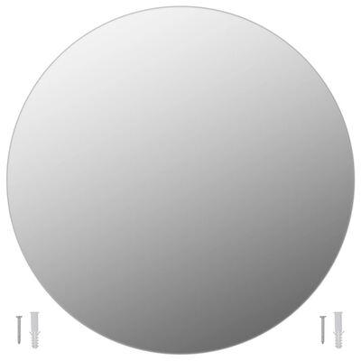vidaXL Wandspiegel rond 60 cm glas