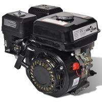 vidaXL Benzinemotor 6,5 PK 4,8 kW zwart