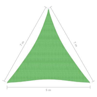 vidaXL Zonnezeil 160 g/m² 5x7x7 m HDPE lichtgroen