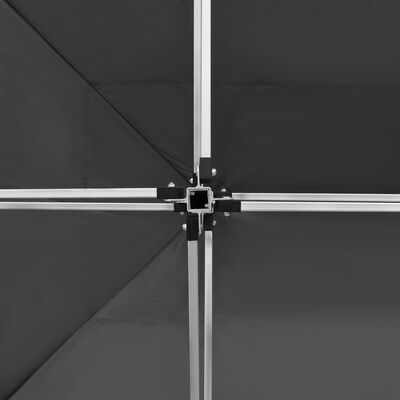 vidaXL Partytent professioneel inklapbaar 4,5x3 m aluminium antraciet