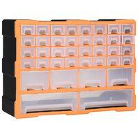 vidaXL Organiser met 40 lades 52x16x37,5 cm