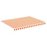 vidaXL Vervangingsdoek voor luifel 4x3 m geel en oranje
