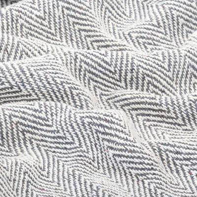 vidaXL Plaid visgraat 160x210 cm katoen grijs