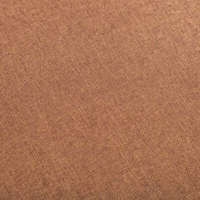 vidaXL Fauteuil stof bruin