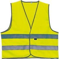 4-Act Veiligheidshesje 2 Strepen Unisex Geel Maat XL
