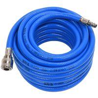 YATO Luchtslang met koppeling 10 mm x 10 m PVC blauw