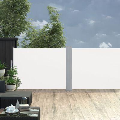 vidaXL Windscherm uittrekbaar 120x1000 cm crème