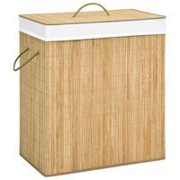 vidaXL Wasmand 100 L bamboe