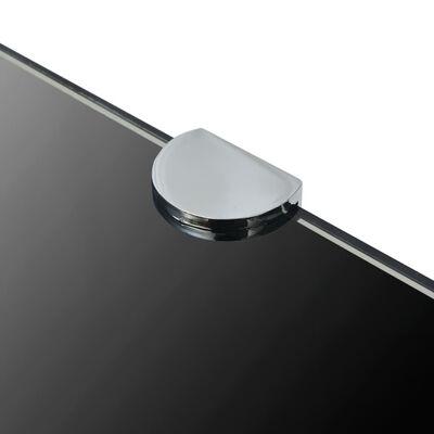 vidaXL Hoekschappen 2 st met chromen dragers 25x25 cm glas zwart,
