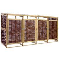 vidaXL Containerberging vierdubbel grenenhout en wicker