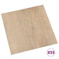 vidaXL Vloerplanken zelfklevend 55 st 5,11 m² PVC bruin