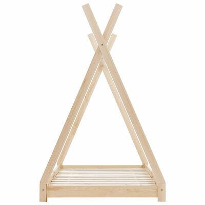 vidaXL Kinderbedframe massief grenenhout 90x200 cm