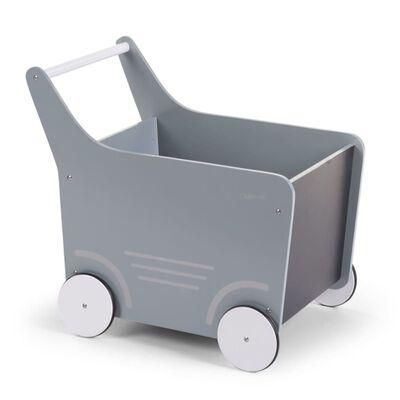 CHILDHOME Poppenwagen hout grijs