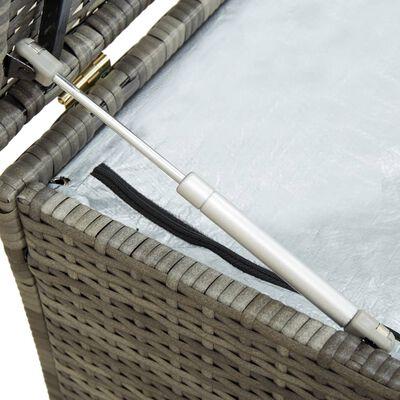 vidaXL Tuinbox 200x50x60 cm poly rattan grijs