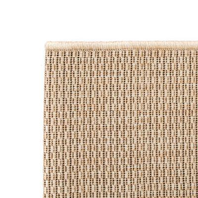 vidaXL Vloerkleed binnen/buiten 120x170 cm sisal look beige