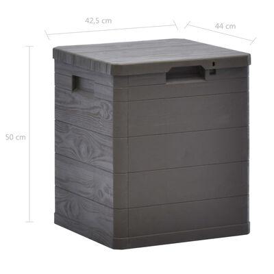 vidaXL Opbergbox voor in de tuin 90 L bruin