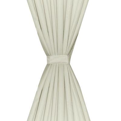 vidaXL Gordijnen verduisterend dubbellaags 140x175 cm crème 2 st