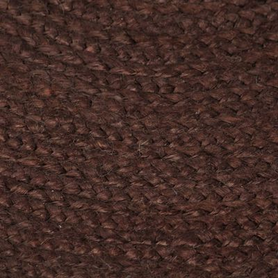 vidaXL Vloerkleed handgemaakt rond 90 cm jute bruin