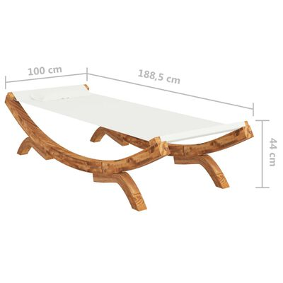 vidaXL Hangmat 100x188,5x44 cm massief vurenhout crèmekleurig