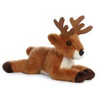 Pluche bruine hert knuffel 20 cm - Bosdieren knuffels - Speelgoed
