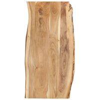 vidaXL Tafelblad 120x(50-60)x2,5 cm massief acaciahout