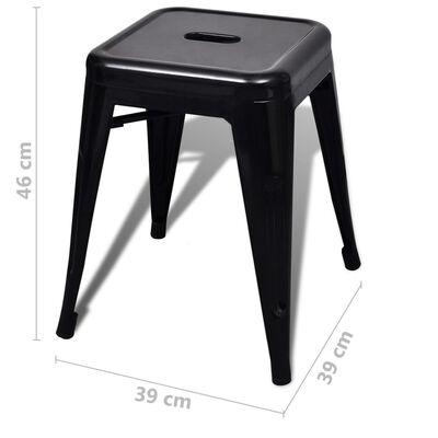 vidaXL Krukken stapelbaar 6 st staal zwart