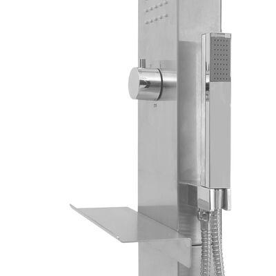 vidaXL Buitendouche vierkant roestvrij staal