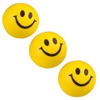 Banzaa Emoji Stressbal 3 Stuks Smiley Soft Density Geel