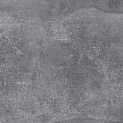 FMD Salontafel met wieltjes betongrijs en wit