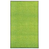 vidaXL Deurmat wasbaar 90x150 cm groen