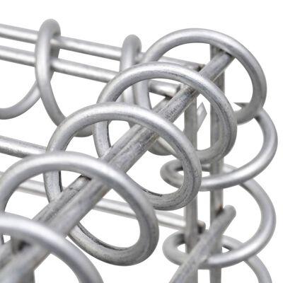 vidaXL Schanskorfmuur met deksels 900x30x150 cm gegalvaniseerd staal