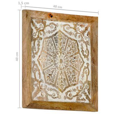 vidaXL Wandpanelen 2 st handgesneden 40x40x1,5 cm massief mangohout