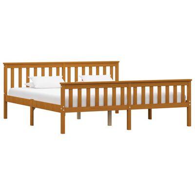 vidaXL Bedframe met 4 lades massief grenenhout honingbruin 180x200 cm