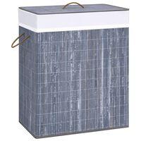 vidaXL Wasmand 100 L bamboe grijs