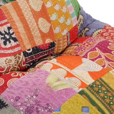 vidaXL Zitzak stof patchwork meerkleurig