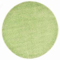 vidaXL Vloerkleed shaggy hoogpolig 120 cm groen