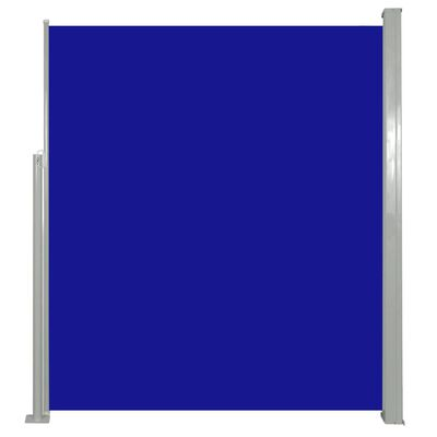 vidaXL Windscherm uittrekbaar 160x500 cm blauw