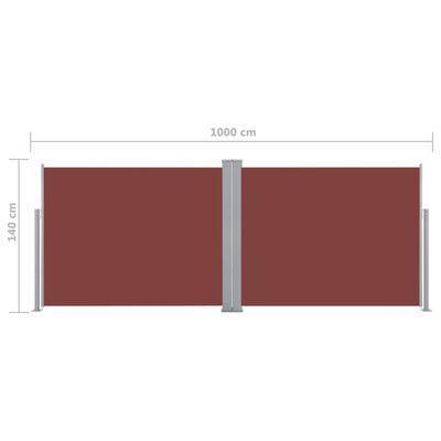 vidaXL Windscherm uittrekbaar 140x1000 cm bruin