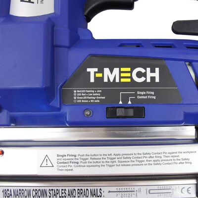 T-Mech Accu Tacker - 18V - Krachtig -  extra accu inbegrepen - 300 x