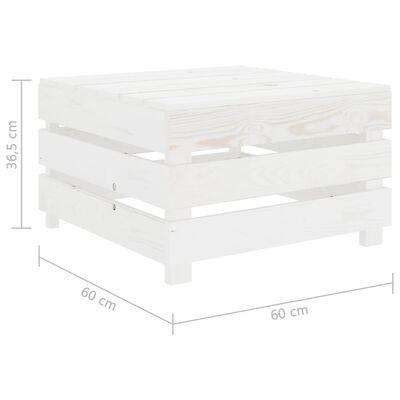 vidaXL 2-delige Loungeset pallet hout wit