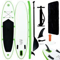 vidaXL Stand Up Paddleboardset opblaasbaar groen en wit