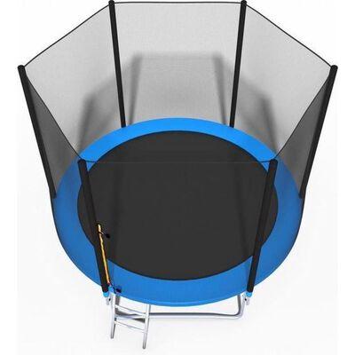 Trampoline - Blauw - 252 Cm - Met Net En Ladder - Tot 100 Kg,