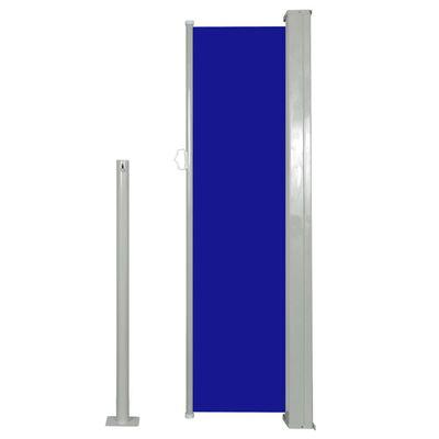 vidaXL Windscherm uittrekbaar 120x300 cm blauw