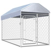 vidaXL Hondenkennel voor buiten met dak 200x100x125 cm