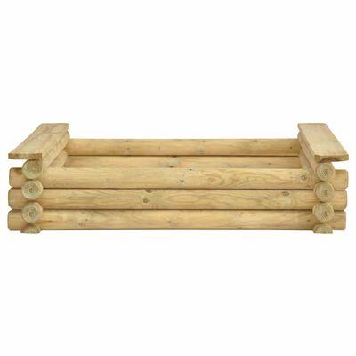 vidaXL Zandbak 120x120x27 cm geïmpregneerd grenenhout