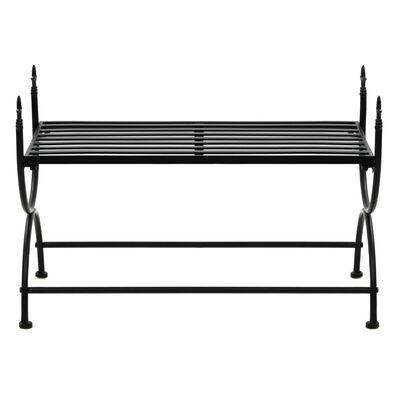 vidaXL Bankje vintage stijl 83x42x55 cm metaal zwart