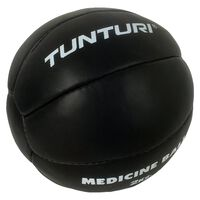 Tunturi Medicine ball l Leder l 1 t/m 5 kg l zwart
