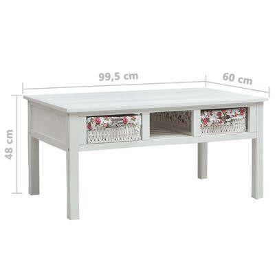 vidaXL Salontafel 99,5x60x48 cm hout wit