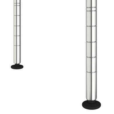 vidaXL Magnetronkast 2-laags 60x30x60 cm verchroomd ijzer
